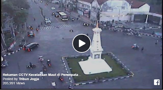 Terekam Kamera CCTV, Inilah Detik-detik Kecelakaan Maut di Perempatan Tugu Yogya jam 3 sore