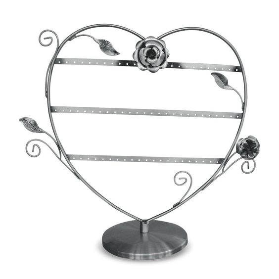 #PEW080B Metal Wire Earring Display Stand with Floral Design