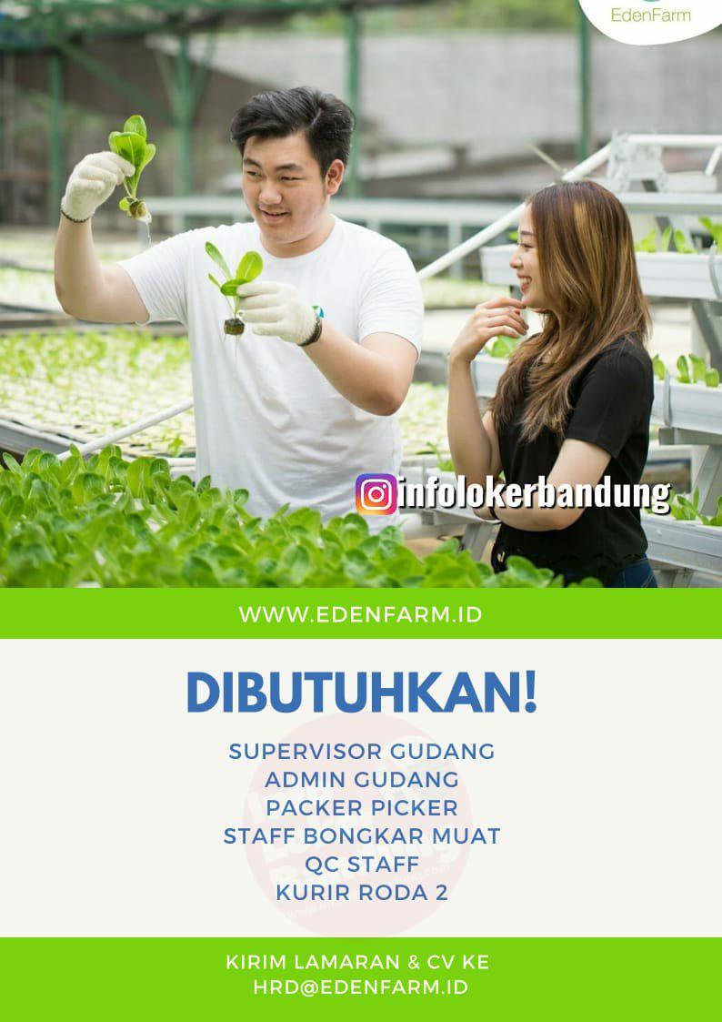 Lowongan Kerja PT. Eden Pangan Indonesia ( Eden Farm ) Bandung Oktober 2019