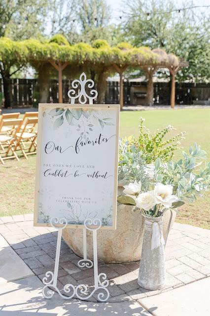 ceremony signage