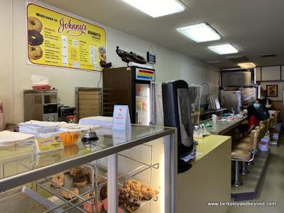 interior of Johnny's Donuts in Lafayette, California