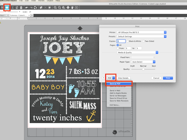 Silhouette Studio, PDF convert, PDF, save as PDF, Silhouette Studio Software tutorials