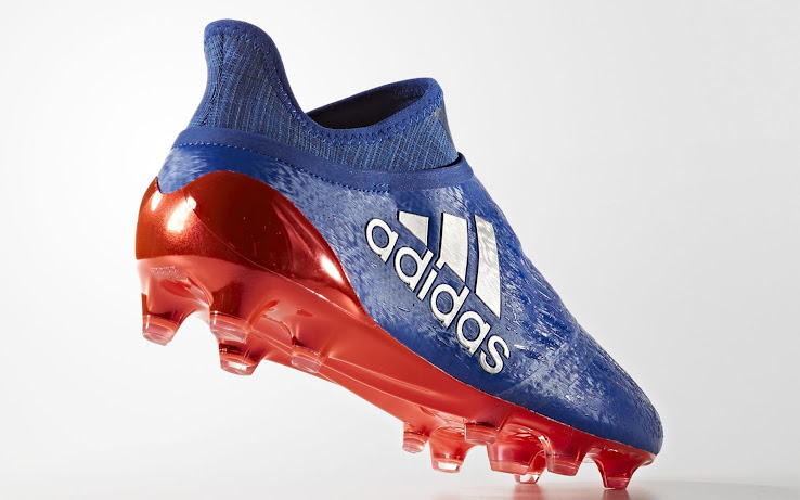 24341d3bc ... a blue-and-red colorway for its X 16+ PureChaos football boots. The Collegiate  Royal Adidas X 16+ PureChaos soccer cleats are available through Adidas' ...