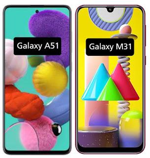 Galaxy M31 ضد Galaxy A51