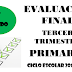 Evaluación Tercer Trimestre 4° Primaria Ciclo Escolar 2018-2019.
