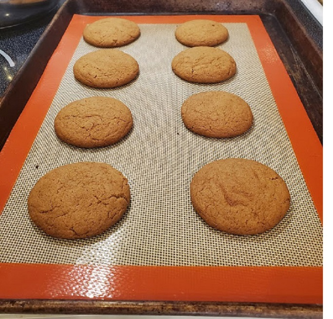 these are baked molasses cookies cooling