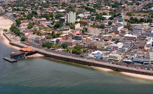 imagem aérea do centro de Santarém – Pará