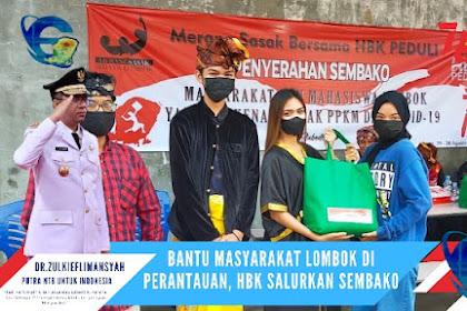 Bantu Masyarakat Lombok di Perantauan, HBK Salurkan Sembako