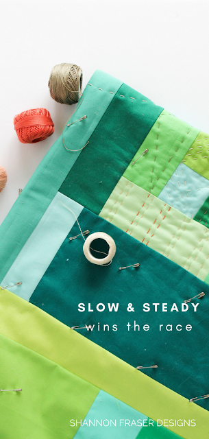 Slow and steady wins the race | Modern Improv Quilt | Shannon Fraser Designs