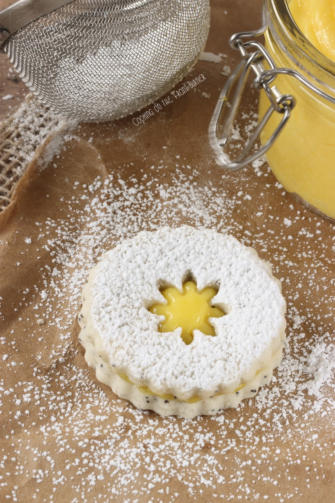 Poppy Seed Lemon Linzer Cookies | Cooking on the Front Burner #linzercookies