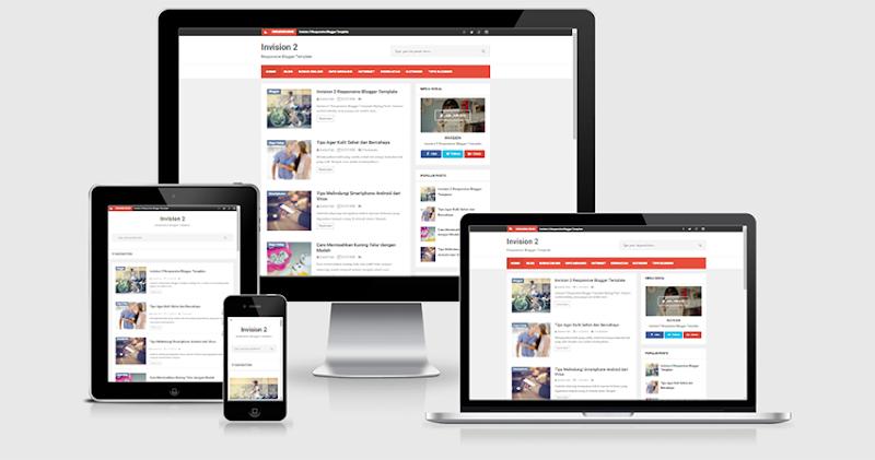 Invision  Pro Responsive Blogger Template - Responsive Blogger Template