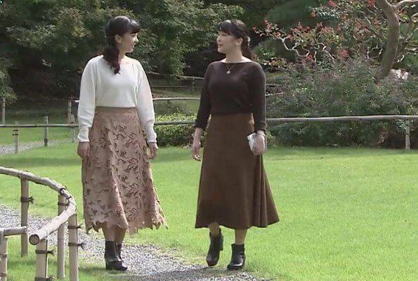Princess Mako and Princess Kako at Akasaka Imperial Palace. Wedding of Princess Mako and her fiance Kei Komuro. Crown Princess Kiko