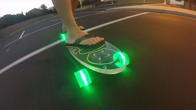 Ghost longboard with light up wheels