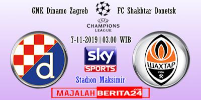 Prediksi Dinamo Zagreb vs Shakhtar Donetsk — 7 November 2019