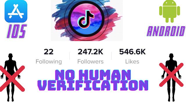 Generate unlimited followers on TikTok without human verification.