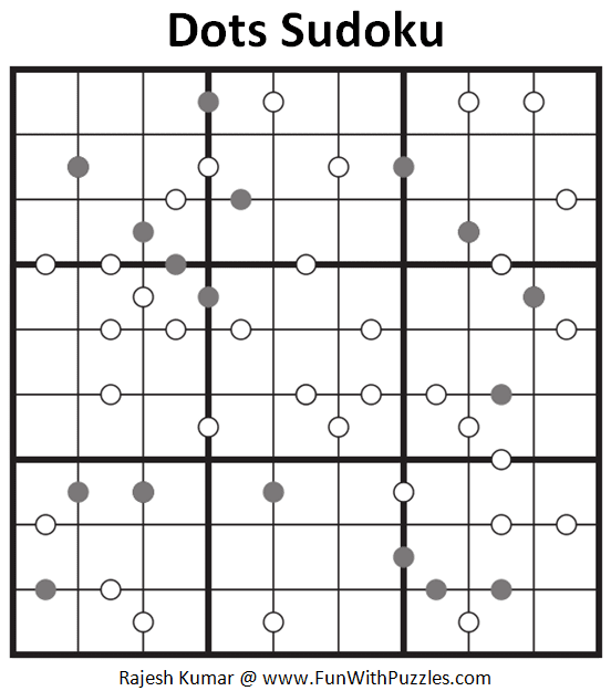 Dots Sudoku Puzzle (Fun with Sudoku #295)
