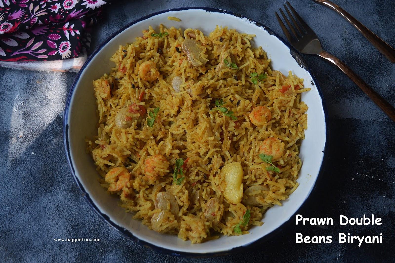 Prawns Double Beans Biryani Recipe | Iral Double Beans Biryani