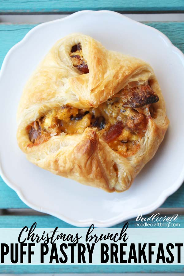 Make a delicious Puff Pastry Breakfast cup with eggs, sausage and cheesy goodness. This hearty breakfast is great to get started on an early morning or delight mid-day for the perfect brunch.
