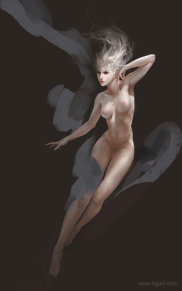 Guangjian Huang hgjart deviantart ilustrações fantasia chinesa mulheres sensuais peitos