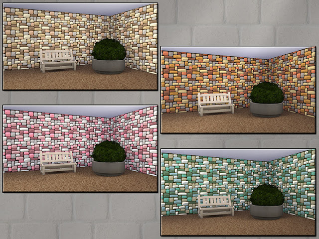 Стены с кирпичным покрытием для Sims 4 со ссылкой для скачивания