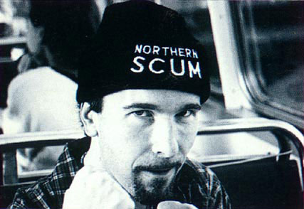 Northen Scum beanie worn by The Edge.