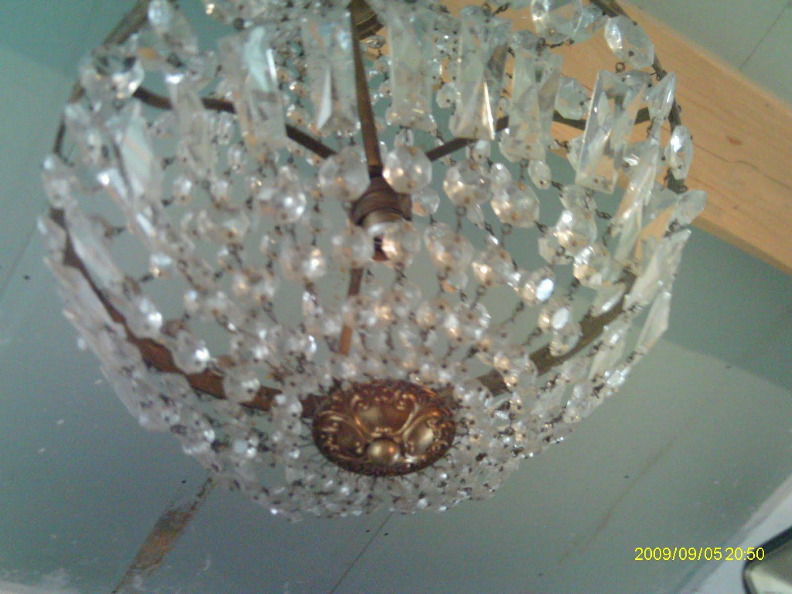 ancien lustre pampille montgolfiere cage cristal verre. Black Bedroom Furniture Sets. Home Design Ideas