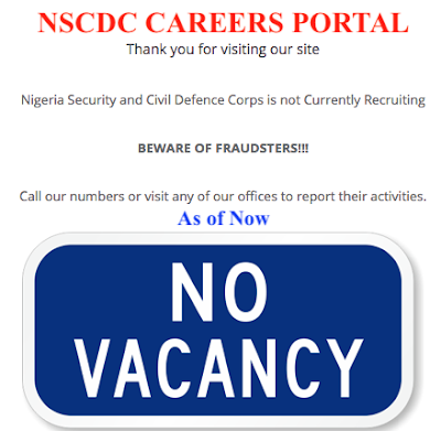 NSCDC RECRUITMENT PORTAL - RECRUITMENTLOGIN.COM