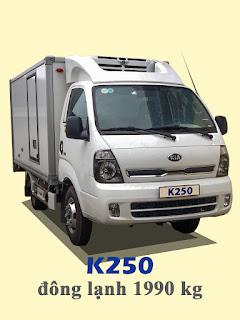 xe tải kia thaco frontier k250 đông lạnh 2 tấn