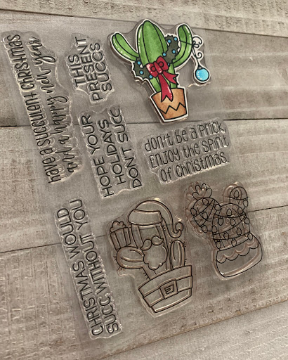 Jaded Blossom Succulent Christmas Stamps