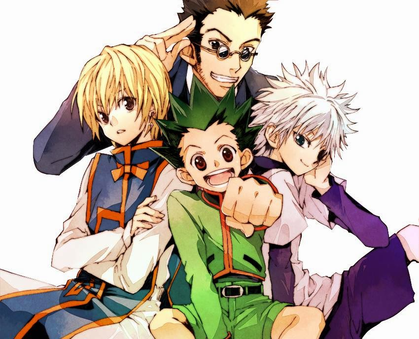 anime series, anime, hunter x hunter, main four, gon, killua, kurapika, leorio