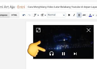 Cara Menghilang Video Latar Belakang Youtube di depan Layar (Youtube Premium)
