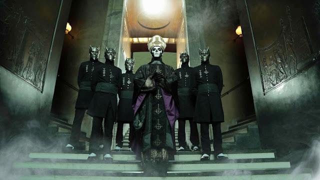 Ghost uma experiência além da música, Papa Emeritus, Nameless Ghouls, Opus Eponymous, Infestissumam, Meliora, Popestar, Tobias Forge