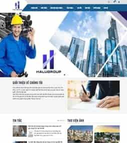 Template blogspot kinh doanh vật liệu xây dựng