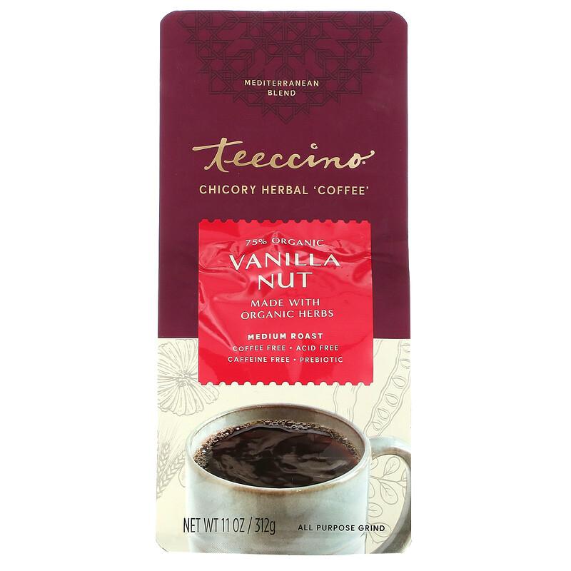 Teeccino, травяной кофе из цикория, средней прожарки, без кофеина, ваниль и орех, 312 г (11 унций)