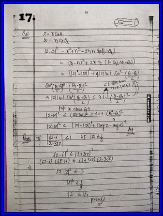 iitjee notes on complex number 17