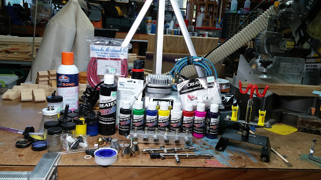 My Harbor Freight Compressor With Airbrushes and Accessories