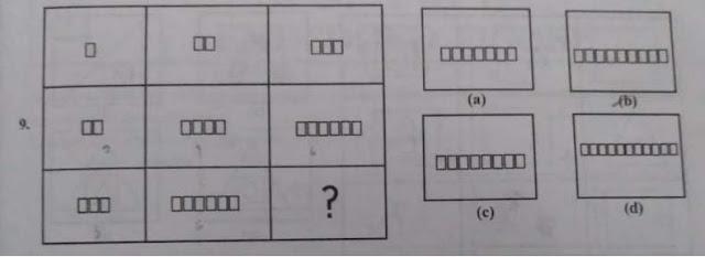 general intelligence test in hindi,figure matrix non verbal reasoning