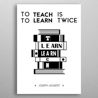 Enseñar es aprender dos veces - Joseph Joubert