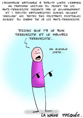 Bon et mauvais terrorisme…