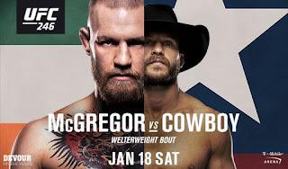 Ver repeticion UFC 246 McGregor vs Cowboy En español online