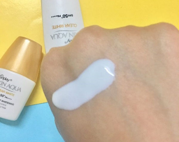 texture sunplay skin aqua clear white