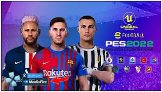 Download eFootball PES 2022 PPSSPP New Update Face And Hair 4K Best Camera PS5 & English Commentary Peter Drury