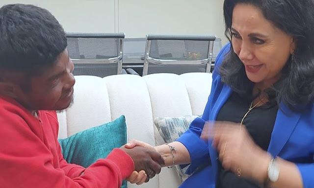 Marcos Zuleta Gómez se reunió con la ministra de la Mujer y Poblaciones Vulnerables, Gloria Montenegro