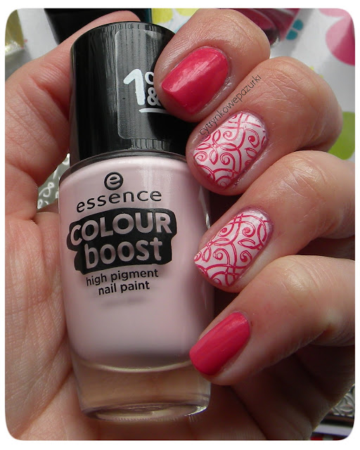 Essence Colour Boost 08 instant party, 01 instant friendship i płytka BPS BP-L049