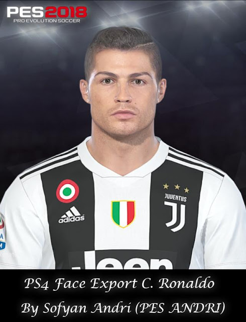PES 2018 Cristiano Ronaldo Face (Juventus) 2018/19 by Sofyan Andri