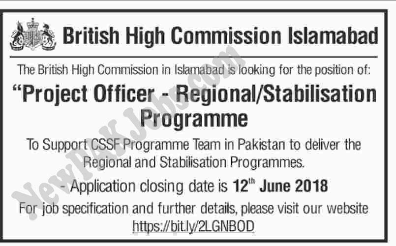 British High Commission Islamabad Jobs 2018  fco.tal.net