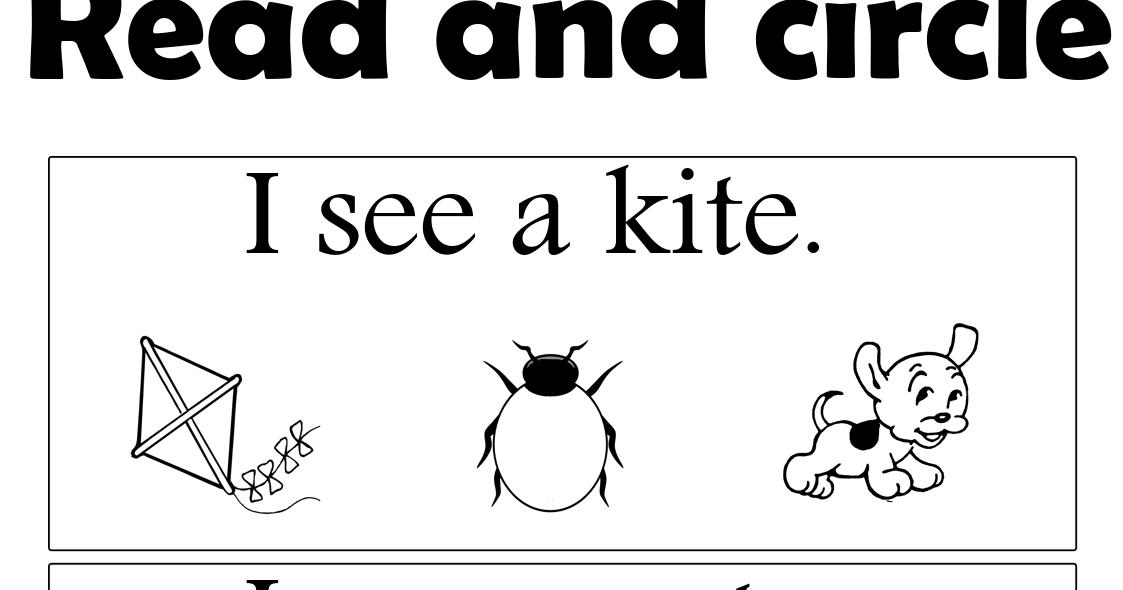 Download ( Read and circle worksheet ) free pdf file
