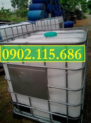 Sỉ lẻ thùng nhựa 1000L (Tank nhựa IBC) cũ và mới giá rẻ