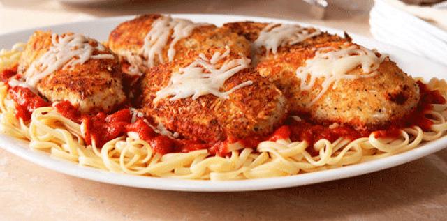 Recetas de pollo, pastas