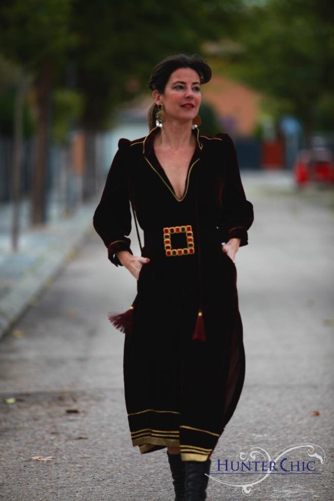 studio zara-hunterchicbymarta-marta halcon de Villavicencio-abaya-vestido largo